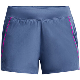 Under Armour Qualifier Speedpocket Shorts Women, mineral blue-meteor pink